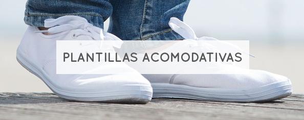 Plantillas acomodativas personalizadas para dolor de pies.