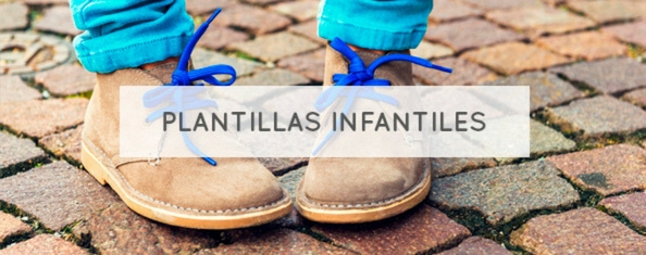 Plantillas infantiles para el cuidado de los pies de los niños.