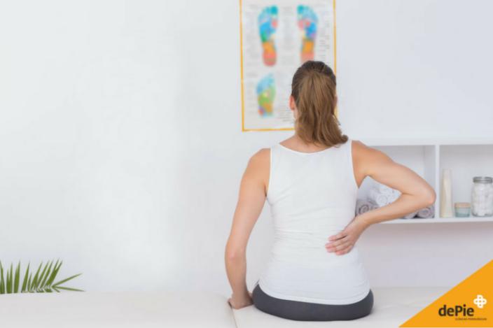 El dolor de espalda puede tener su origen en los pies.